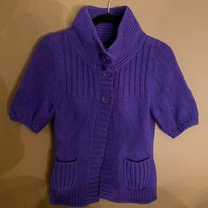 Express purple short sleeve sweater